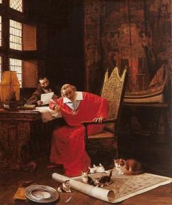 Le Cardinal de Richelieu, amoureux des chats jusqu'au bout