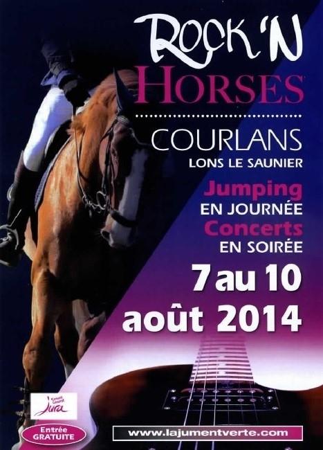 Jumping-concert Rock'n Horses à Courlans (39), du jeudi 07 au dimanche 10 août 2014