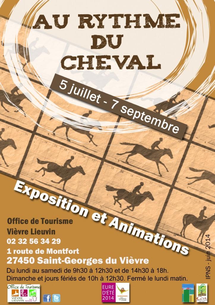 """Exposition """"Au rythme du cheval"""" à Saint Georges du Vièvre (27), du samedi 05 juillet au dimanche 07 septembre 2014"""