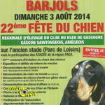 22 ème Fête du Chien à Barjols (83), le dimanche 03 août 2014