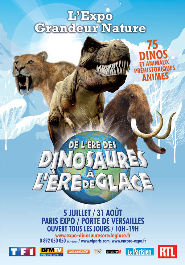 Exposition de l re des dinosaures l re de glace - Adresse paris expo porte de versailles ...