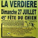 45 ème Fête du chien à La Verdière (83), dimanche 27 juillet 2014