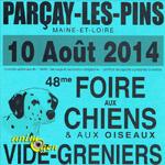 48 ème Foire aux chiens et aux oiseaux à Parçay les Pins (49), le dimanche 10 août 2014