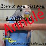 Bourse aux oiseaux à Weitbruch (67), le dimanche 24 août 2014