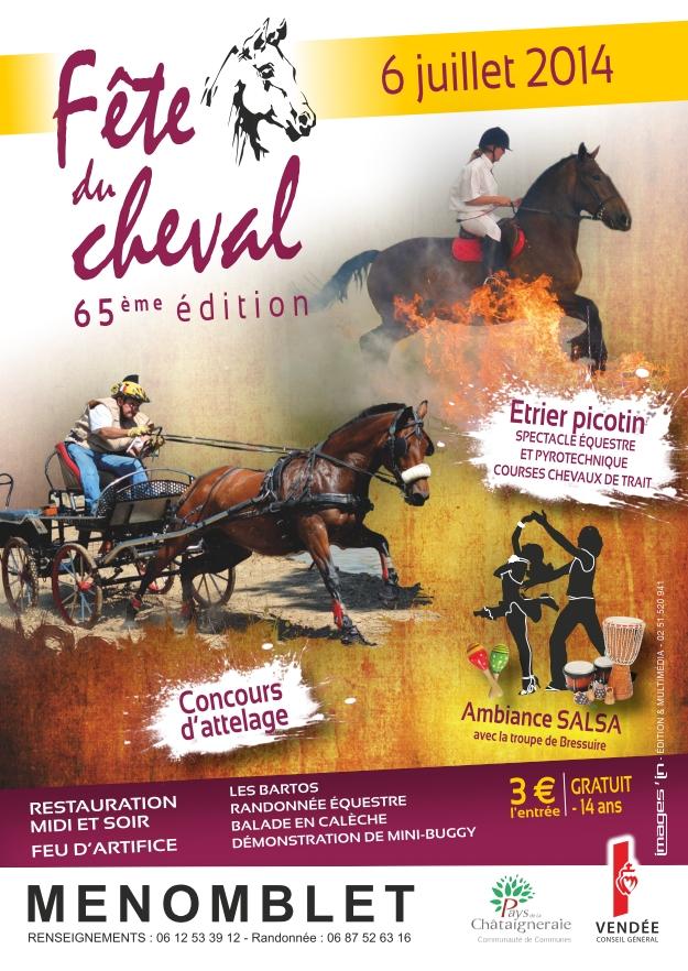 65 ème Fête du cheval à Menomblet (85), le dimanche 06 juillet 2014