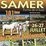 101 ème Concours spécial du cheval boulonnais à Samer (62), du samedi 26 au dimanche 27 juillet 2014