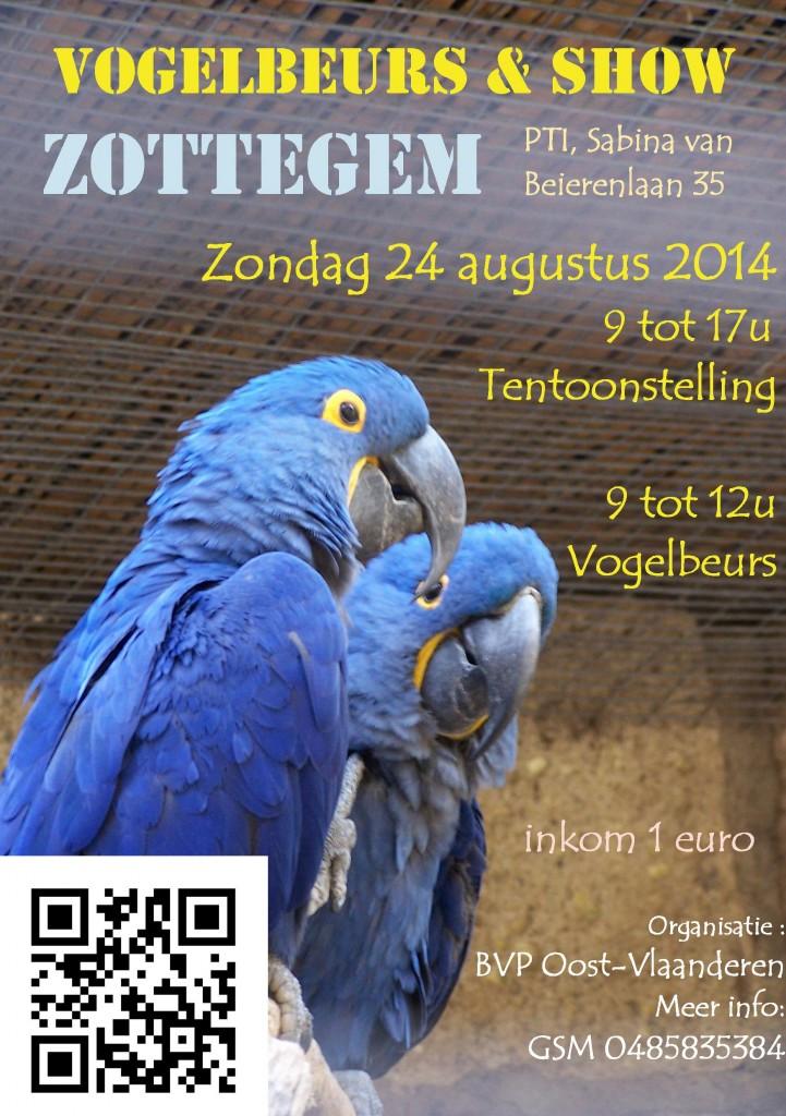 """Bourse ornithologique """"Vogelsbeurs & Show"""" à Zottegem (Belgique), du samedi 09 au dimanche 10 août 2014"""