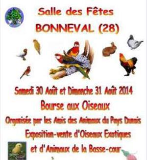 Bourse aux oiseaux à Bonneval (28), du samedi 30 au dimanche 31 août 2014