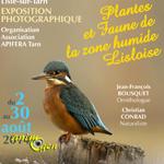"""Exposition photographique """"Plantes et Faune de la zone humide lisloise"""" à Lisle sur Tarn (81), du samedi 02 au samedi 30 août 2014"""