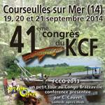41 ème Congrès du KCF à Courseulles sur Mer (14), du vendredi 19 au dimanche 21 septembre 2014