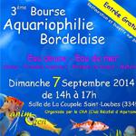 Bourse aquariophile à Saint Loubès (33), le dimanche 07 septembre 2014