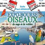 Expo-bourse oiseaux de cage et de volière à Marseillan (34), du samedi 27 au dimanche 28 septembre 2014