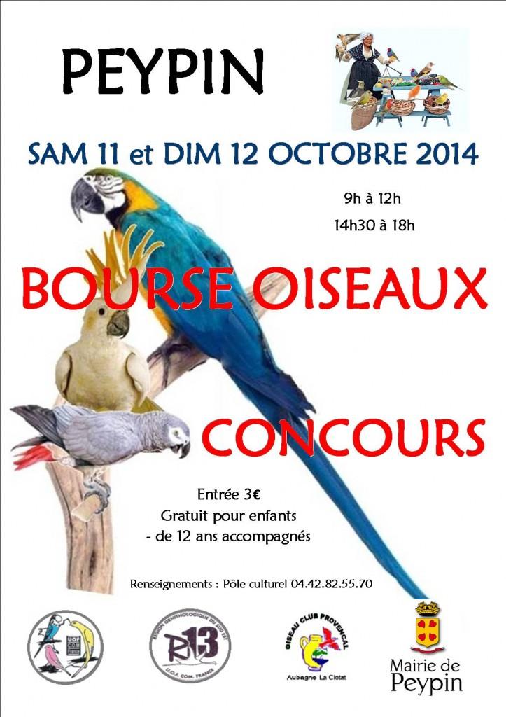 Bourse aux oiseaux et concours à Peypin (13), du samedi 11 au dimanche 12 octobre 2014