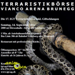 Bourse aux reptiles, Terraristikboersen à Brunegg (Suisse), le dimanche 14 septembre 2014