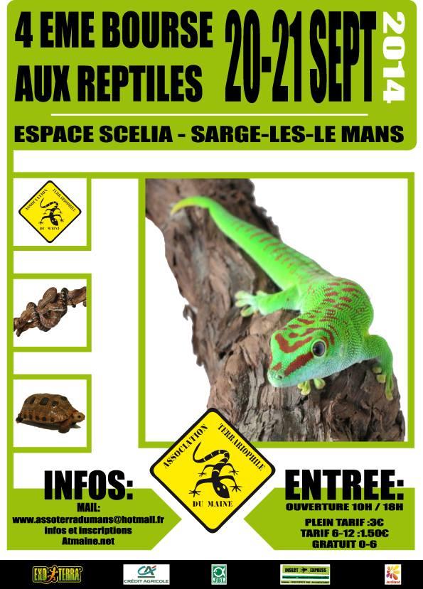 4ème Bourse aux Reptiles à Sargé-lès-le Mans (72), du samedi 20 au dimanche 21 septembre 2014