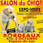 Salon du chiot à Bordeaux (33), du samedi 04 au dimanche 05 octobre 2014