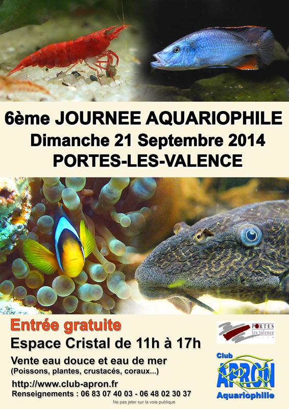 6 ème Journée Aquariophile à Portes lès Valence (26), le dimanche 21 septembre 2014