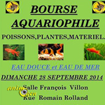 Bourse aquariophile à Fleury les Aubrais (45), le dimanche 28 septembre 2014