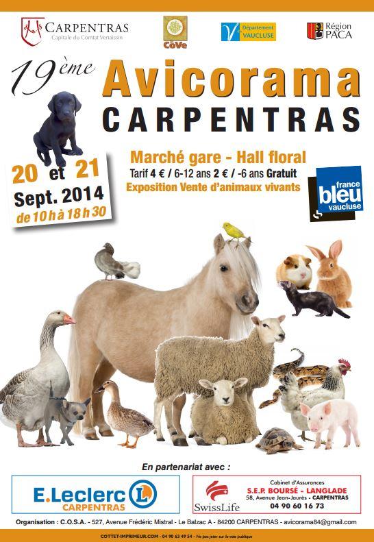 19 ème Avicorama à Carpentras (84), du samedi 20 au dimanche 21 septembre 2014