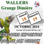 Concours Exposition Bourse aux Oiseaux à Wallers Arenberg (59), du samedi 18 au dimanche 19 octobre 2014
