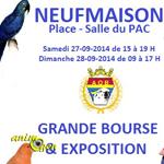 15 ème Challenge, Bourse aux oiseaux à Saint Ghislain (Belgique), du samedi 27 au dimanche 28 septembre 2014