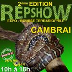 Expo-Bourse terrariophile Reptishow à Cambrai (59), du samedi 04 au dimanche 05 octobre 2014