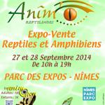 Salon Animô, Reptiliades à Nîmes (30), du samedi 27 au dimanche 28 septembre 2014