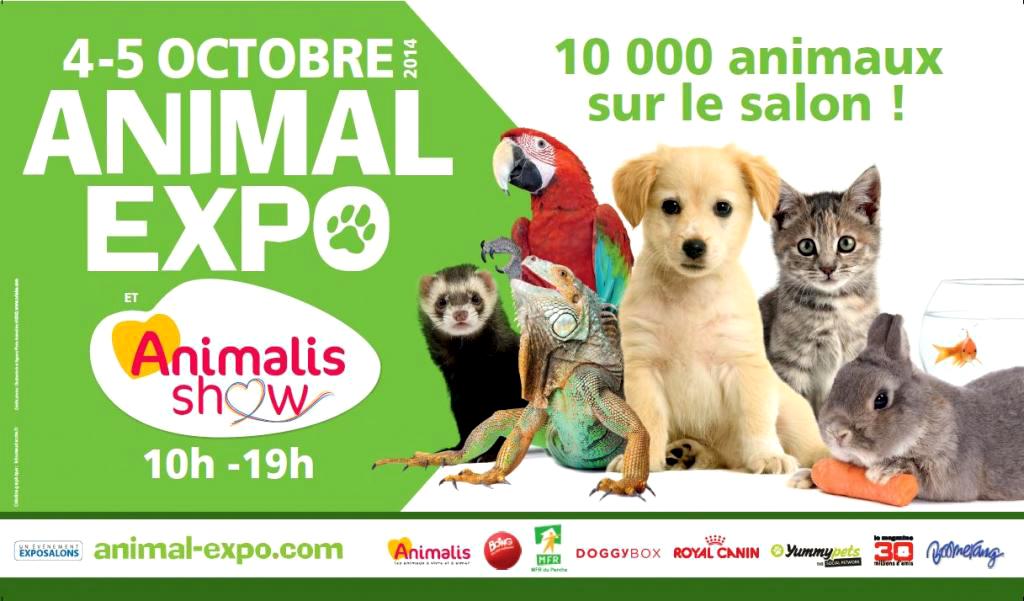 Salon Animal Expo à Paris (75), samedi 04 et dimanche 05 octobre 2014