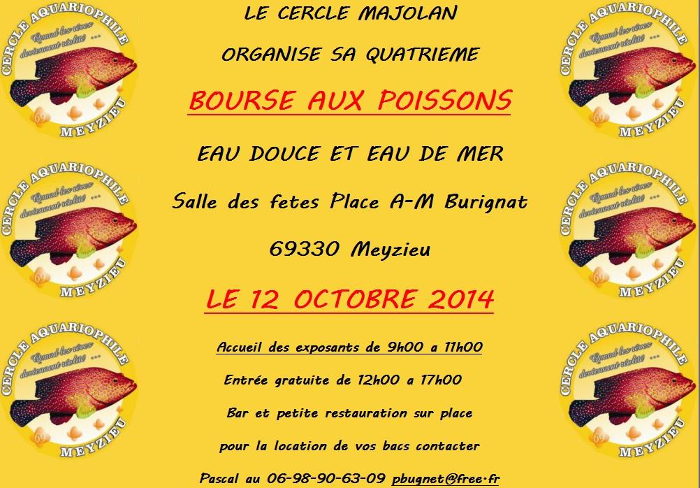 4 ème Bourse aux poissons à Meyzieu(69), le dimanche 12 octobre 2014