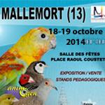 6 ème Exposition d'oiseaux d'élevage à Mallemort de Provence (13), du samedi 18 au dimanche 19 octobre 2014
