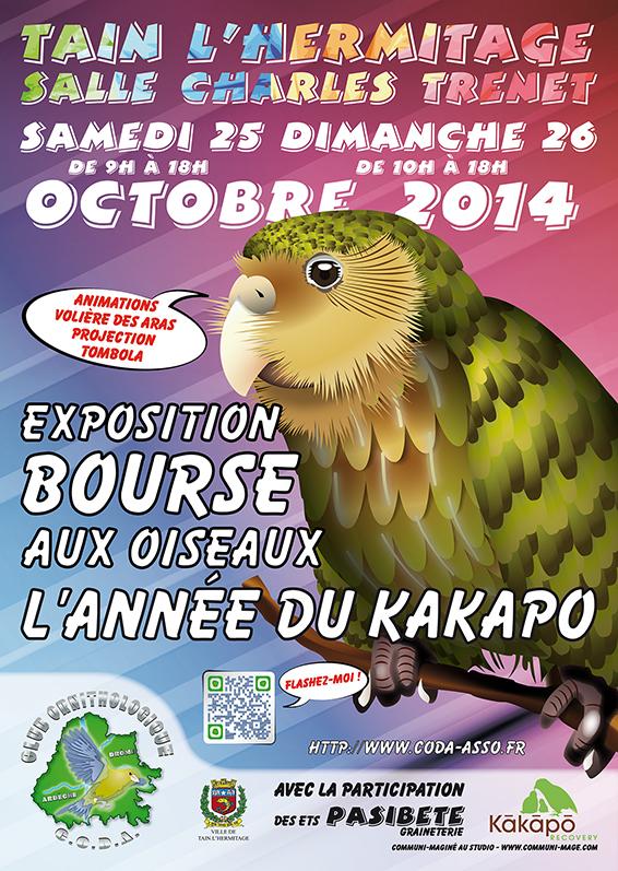 Exposition-Bourse aux oiseaux à Tain l'Hermitage (26), du samedi 25 au dimanche 26 octobre 2014