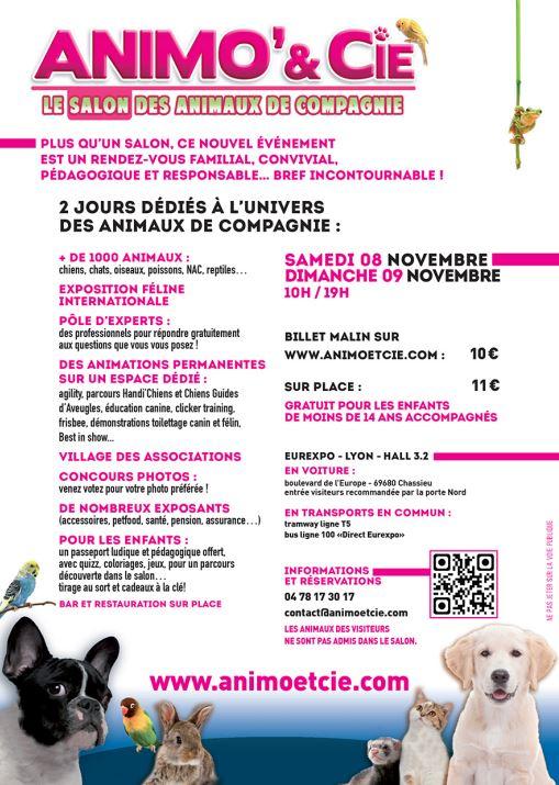 Salon animo cie lyon 69 du samedi 08 au dimanche 09 for Salon du chiot lyon