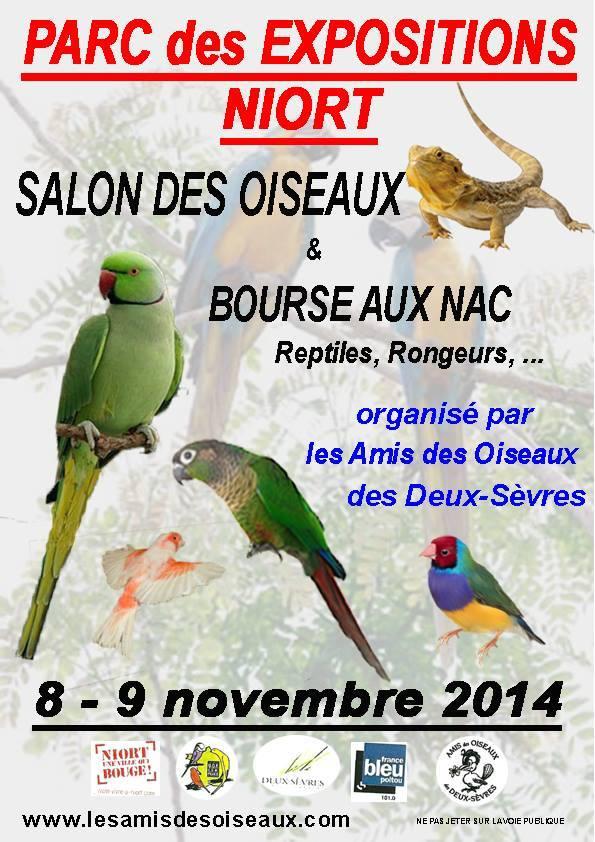 41 me salon des oiseaux et bourse aux nac reptiles for Parc des expositions niort