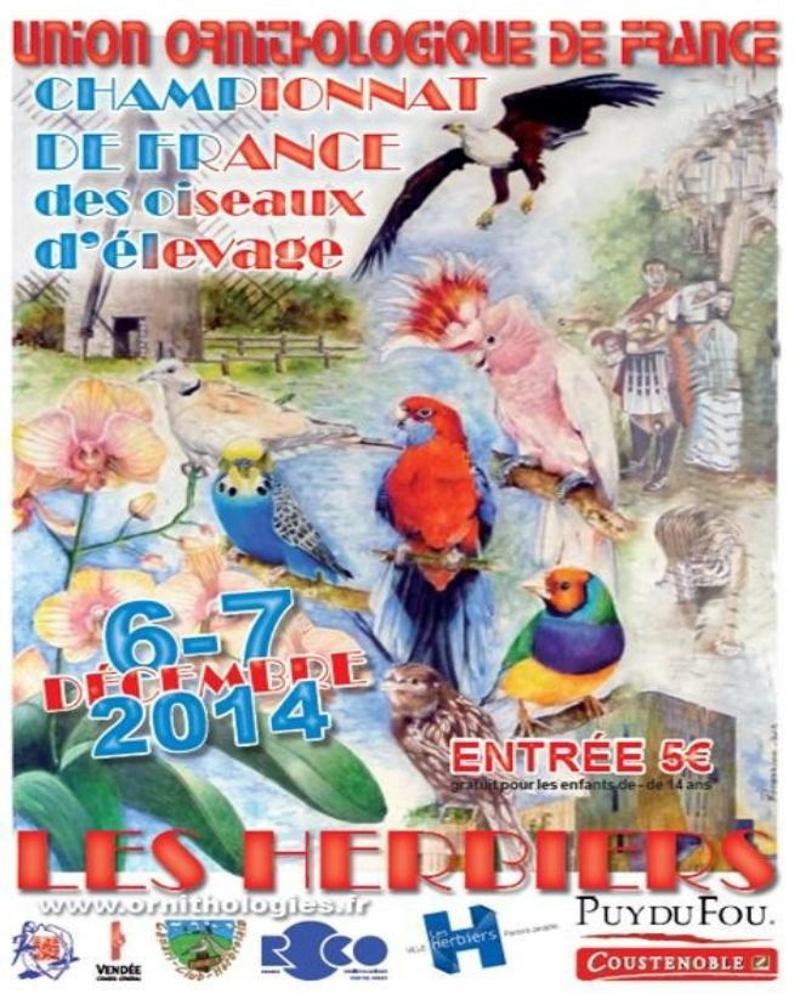 Championnat de France des oiseaux d'élevage aux Herbiers (85), du samedi 06 au dimanche 07 décembre 2014