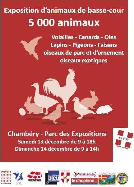 Exposition « Les animaux de basse-cour » à Chambéry (73), du samedi 13 au dimanche 14 décembre 2014