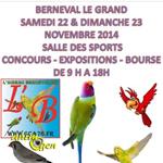 Concours, Expositions, Bourse aux oiseaux à Berneval le Grand (76), du samedi 22 au dimanche 23 novembre 2014