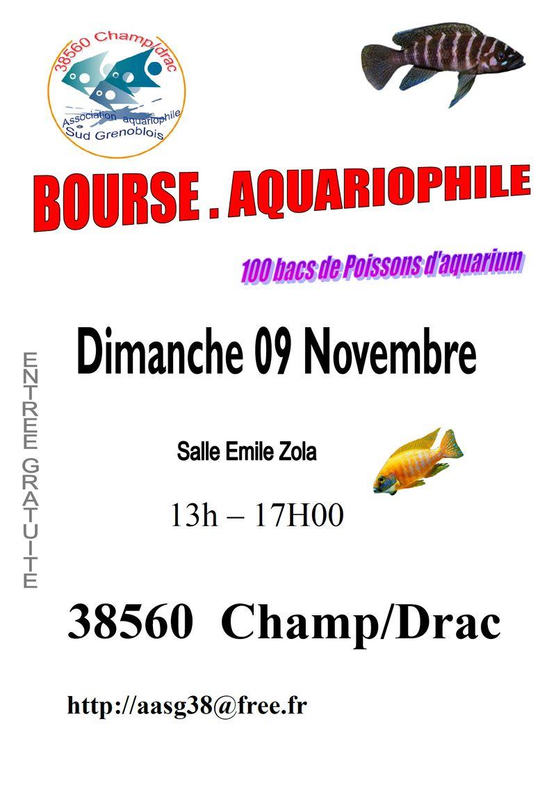 Bourse aquariophile à Champ-sur-Drac (38), le dimanche 09 novembre 2014