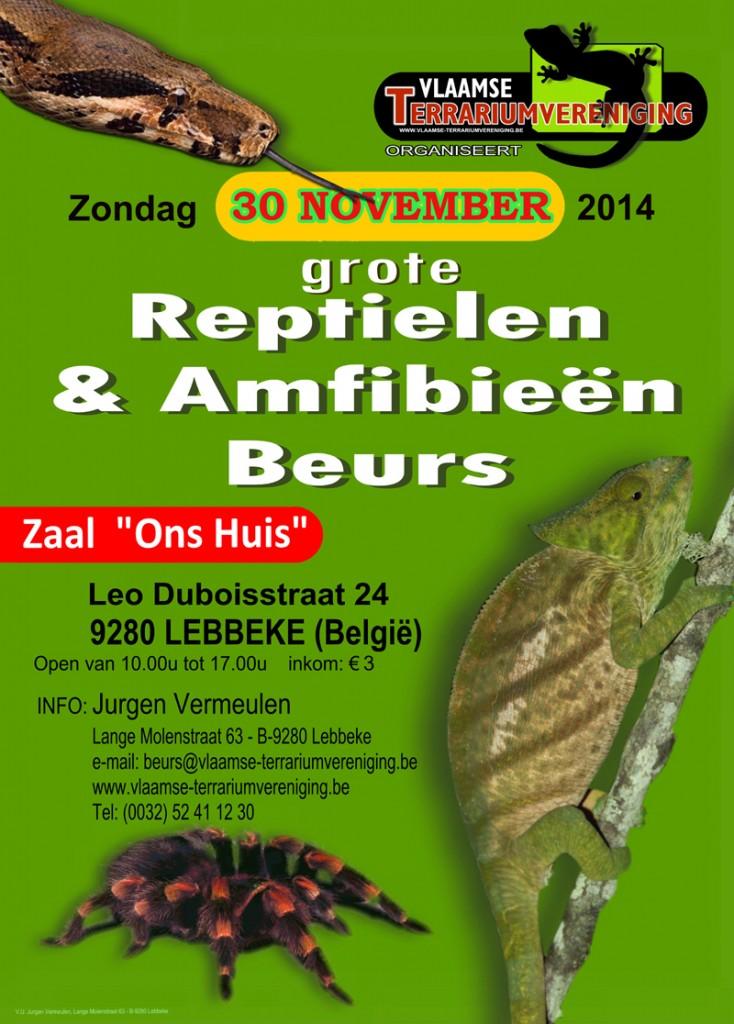 Bourse aux reptiles et amphibiens à Lebbeke (Belgique), le dimanche 30 novembre 2014