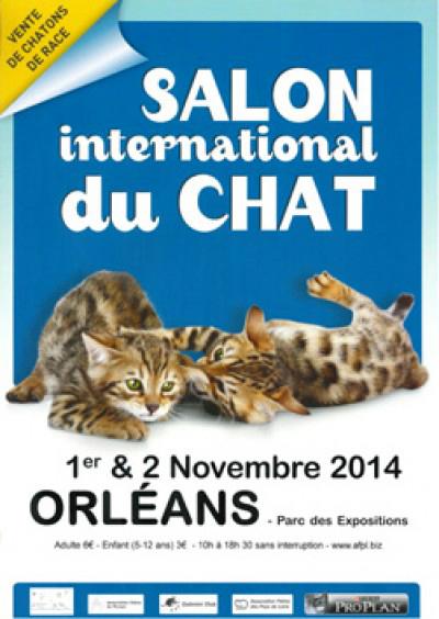 22 ème Salon international du chat à Orléans (45), du samedi 01 er au dimanche 02 novembre 2014