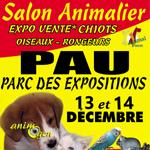 Salon du Chiot Animal Focus à Pau (81), du samedi 13 au dimanche 14 décembre 2014