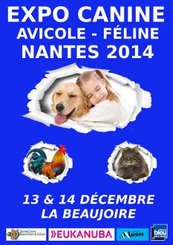 Expo canine, avicole et féline à Nantes (44), du samedi 13 au dimanche 14 décembre 2014
