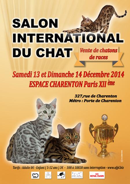 Salon international du chat à Paris XII ème (75), du samedi 13 au dimanche 14 décembre 2014