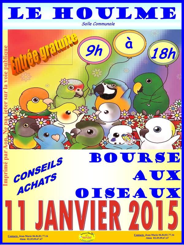 Bourse aux oiseaux à Le Houlme (76), le dimanche 11 janvier 2015