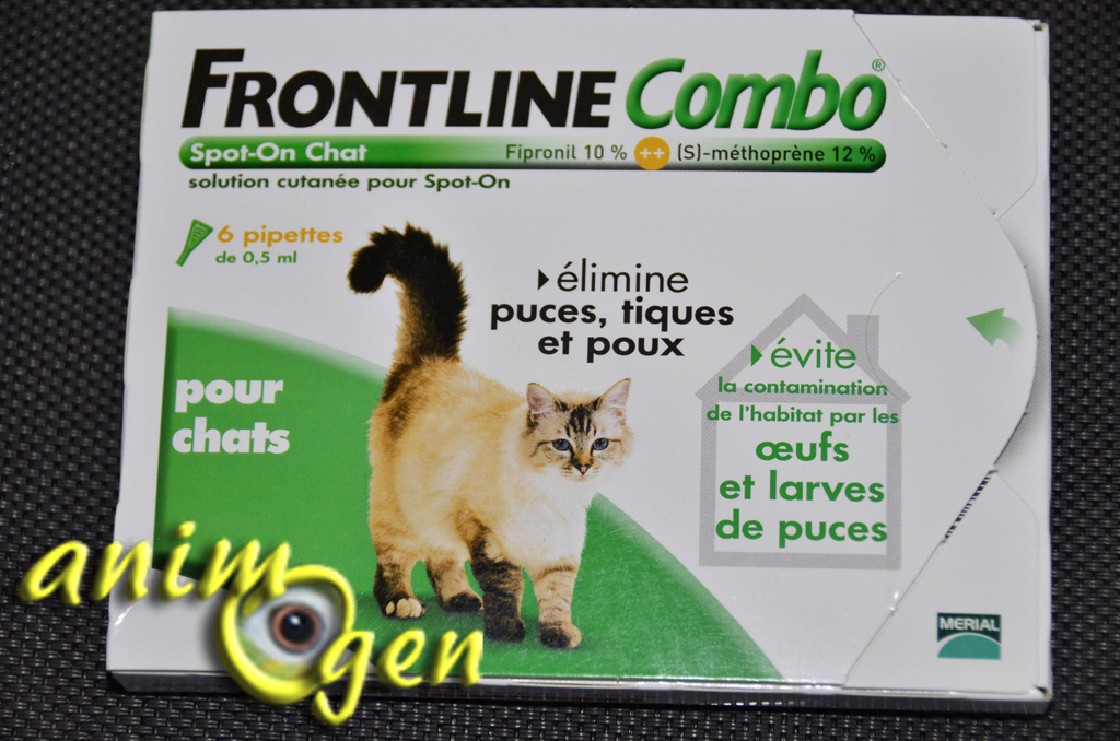 Accessoires anti puces antiparasitaire pour chats - Frontline combo chat 6 pipettes ...