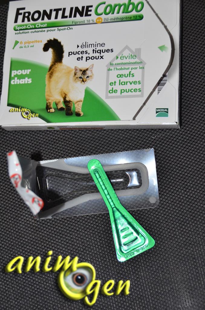 Accessoires anti puces antiparasitaire pour chats - Frontline combo chat pas cher ...