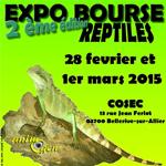 Exposition-bourse aux reptiles à Vichy (03), du samedi 28 février au dimanche 1er mars 2015