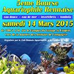 5 ème Bourse aquariophile rennaise à Rennes (35), le samedi 14 mars 2015