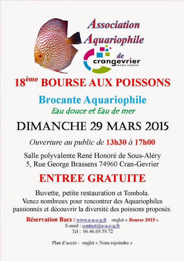 18 ème Bourse aux poissons à Cran Gevrier (74), le dimanche 29 mars 2015