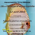 18 ème Bourse aquariophile d'échange à La Milesse (72), le dimanche 12 avril 2015