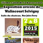 35 ème Salon de la basse-cour et exposition avicole à Walincourt Selvigny (59), du samedi 07 au dimanche 08 février 2015